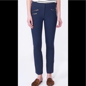 Veronica Beard Adelaide blue zippered pants 10